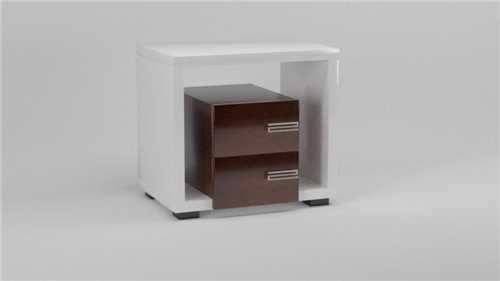 Tridelna, moderna nočna omarica / polnilec K07-0032